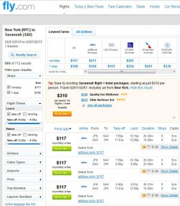New York City-Savannah: Fly.com Search Results
