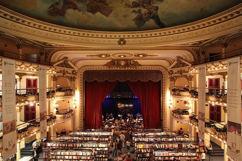 El Ateneo bookstore Credit: Wikipedia & Liam Quinn