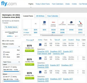 Washington, D.C.-Buesnos Aires: Fly.com Search Results