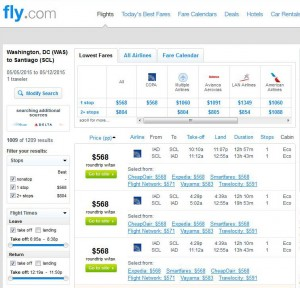 Washington, D.C.-Santiago: Fly.com Search Results