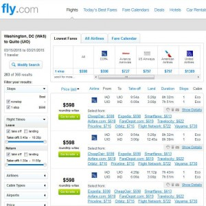 Washington, D.C.-Quito: Fly.com Search Results