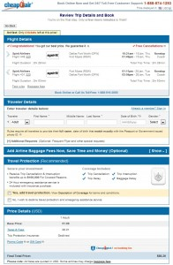 $81 -- Dallas to Fort Myers: CheapoAir Booking Page