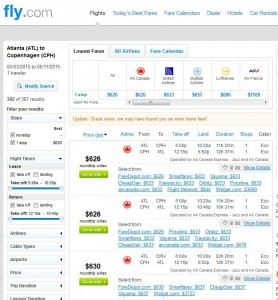 Atlanta-Copenhagen: Fly.com Search Results