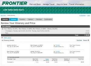 Atlanta to New Orleans: Frontier Calendar