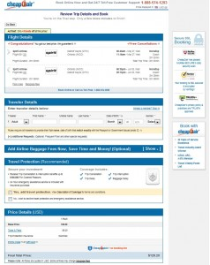 Detroit to Orlando: CheapOair Booking Page