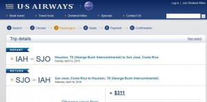 Houston-San Jose: US Booking Page