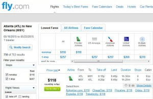 Atlanta-New Orleans: Fly.com Search Results