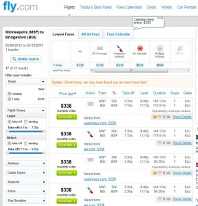 Minneapolis-Bridgetown: Fly.com Search Results