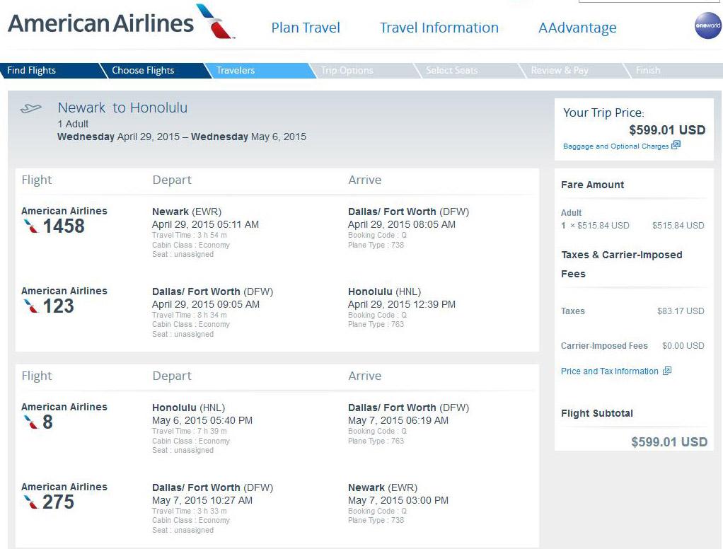 Newark To Honolulu Hawaii RT Flycom Travel Blog - Us zip code honolulu