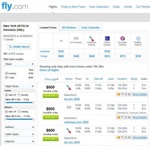 New York City-Honolulu: Fly.com Search Results