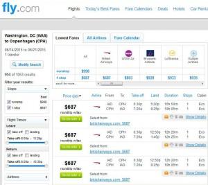 Washington, D.C.-Copenhagen: Fly.com Search Results