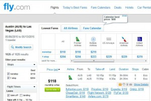 Austin-Las Vegas: Fly.com Search Results