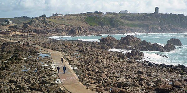 Causeway to Corbiere Lighthouse (Godfrey Hall)
