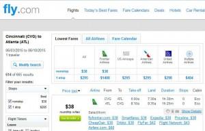 Cincinnati-Atlanta: Fly.com Search Results