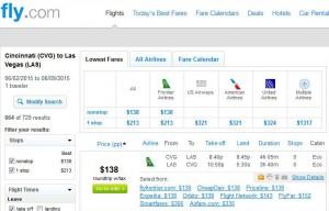 Cincinnati-Las Vegas: Fly.com Search Results