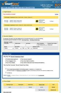 Detroit-Orlando: SmartFares Booking Page