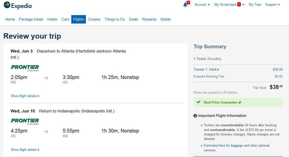 Cheapest flights to United States from Atlanta Hartsfield-Jackson