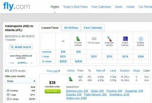 Indianapolis-Atlanta: Fly.com Search Results