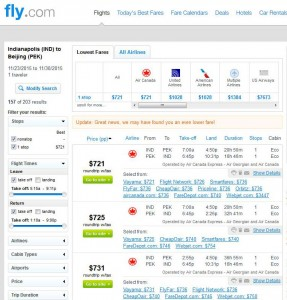 Indianapolis-Beijing: Fly.com Search Results