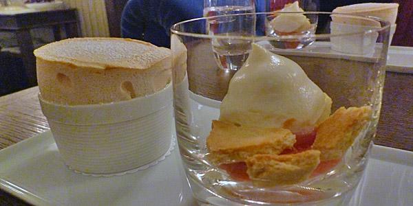 Rhubarb Soufflé at the Ormer Restaurant (Godfrey Hall)