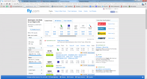 D.C. to Vegas: Fly.com Results Page