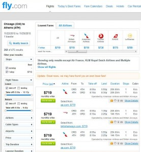 Chicago-Athens: Fly.com Search Results