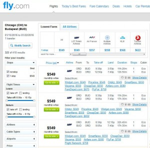 Chicago-Budapest: Fly.com Search Results