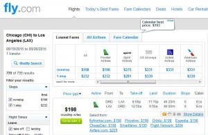 Chicago-Los Angeles: Fly.com Search Results