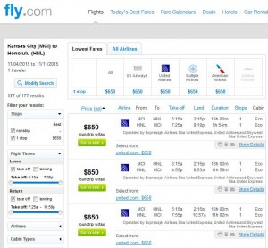 Kansas City-Honolulu: Fly.com Search Results