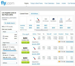 Los Angeles-Sao Paulo: Fly.com Search Results