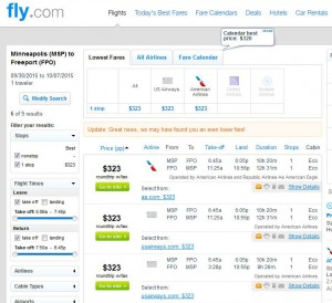 Minneapolis-Freeport: Fly.com Search Results