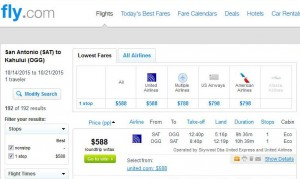 San Antonio-Honolulu: Fly.com Search Results