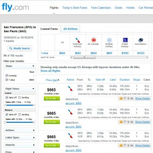 San Francisco-Sao Paulo: Fly.com Search Results
