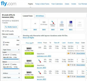 St Louis-Honolulu: Fly.com Search Results