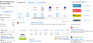 New York City to : Rio de Janeiro: Fly.com Results Page