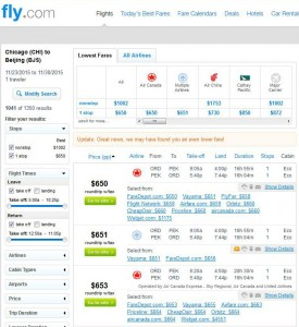 Chicago-Beijing: Fly.com Search Results