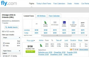 Chicago-Orlando: Fly.com Search Results