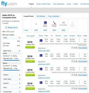 Dallas-Oranjestad, Aruba: Fly.com Search Results