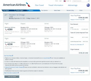 Houston to Chicago: Fly.com Results