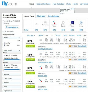 St. Louis-Aruba: Fly.com Search Results