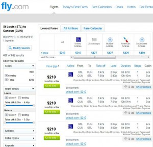 St. Louis-Cancun: Fly.com Search Results