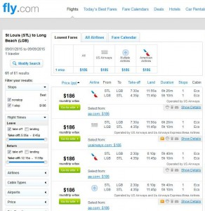 St. Louis-Long Beach: Fly.com Search Results