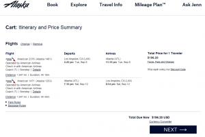 LA to Atlanta : Alaska Airlines Results Page