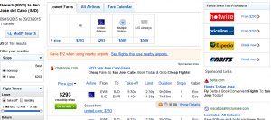Newark to Mexico: Fly.com Results Page