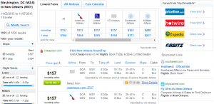 D.C. to Las New Orleans: Fly.com Results Page