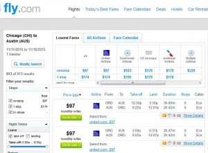 Chicago-Boston: Fly.com Search Results