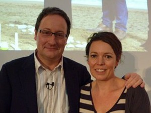 "Chris Chibnall and Olivia Coleman, Creator and Star of ""Broadchurch"""