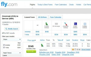 Cincinnati-Denver: Fly.com Search Results
