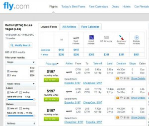 Detroit-Las Vegas: Fly.com Search Results