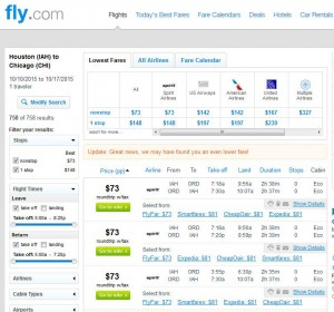 Houston-Chicago: Fly.com Search Results